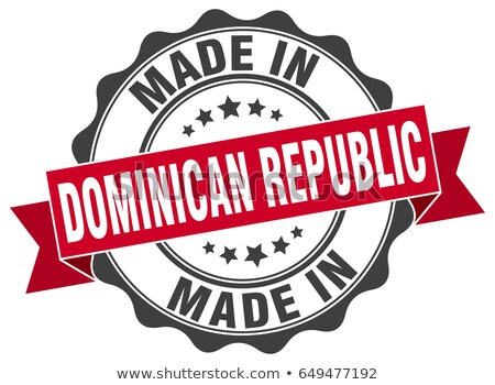 vector label Made in Dominican Republic Stock photo © perysty