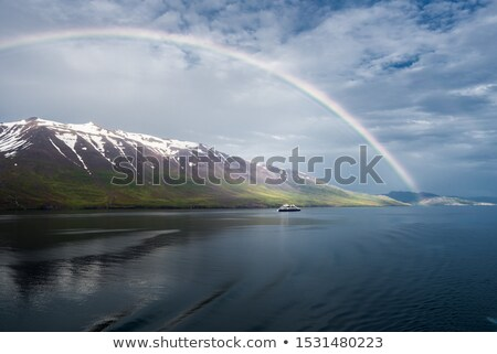 Beautiful rainbow over the mountains, North Fjords Iceland Stock photo © broker