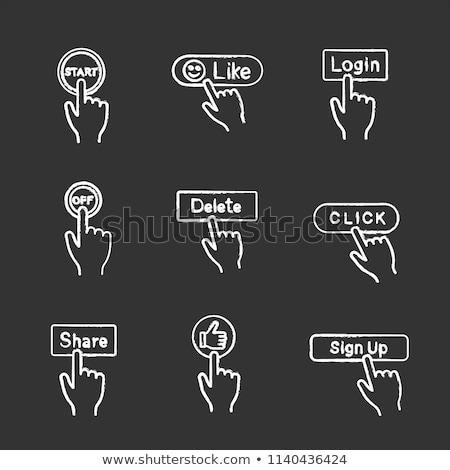medios · de · comunicación · social · botón · aislado · blanco · diseno - foto stock © tashatuvango