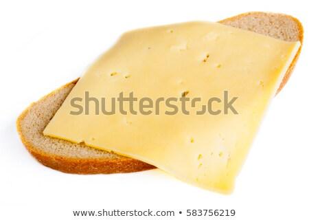 хлеб · пластина · изолированный · белый · текстуры · продовольствие - Сток-фото © shutswis