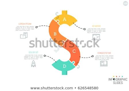 Bilmece dolar oyun notlar iş finanse Stok fotoğraf © idesign