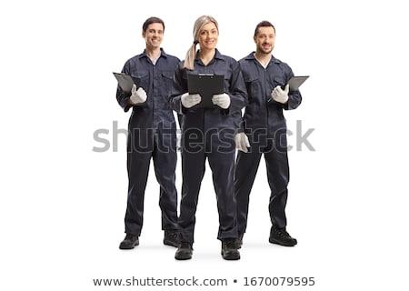 kesztyű · kalapács · fűrész · fúró · férfi · munkás - stock fotó © photography33