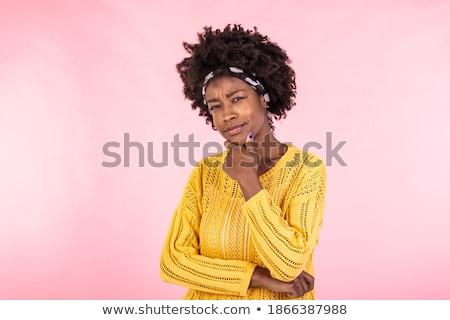 vrouw · zwarte · algemeen · bril · business - stockfoto © stryjek