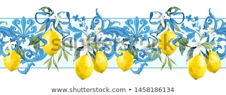 filigree yellow flowers Stock photo © prill