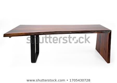 木製のテーブル 自然 葉 フルーツ 健康 表 ストックフォト © inaquim