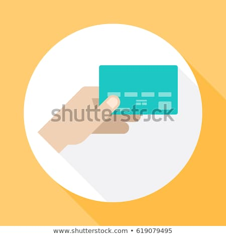 hand holds the golden card stock photo © inxti