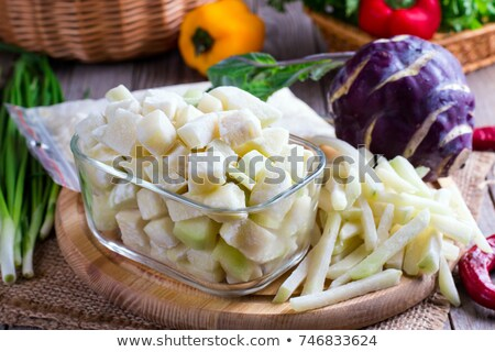 Ice cube and kohlrabi stock photo © Givaga