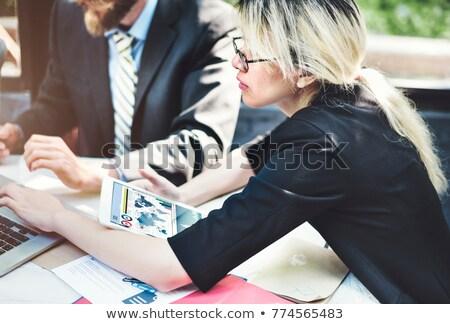 нервный деловой человек бизнеса компьютер служба работу Сток-фото © photography33