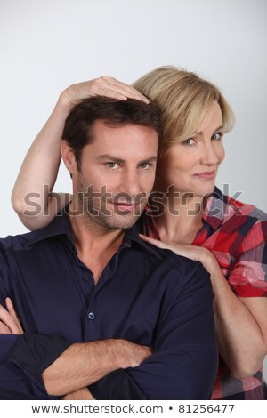 Studio portrait of an affectionate couple in their thirties Stock photo © photography33