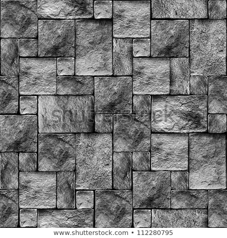 メーソンリー 壁 テクスチャ 抽象的な 石 黒 ストックフォト © Leonardi