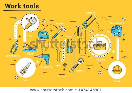 Boîte à outils bleu plastique construction travaux Photo stock © stevanovicigor