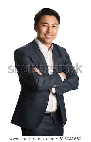 красивый · мужчина · белый · лице · моде · спорт - Сток-фото © wavebreak_media