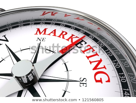 Target Market and Communication Sign, Red Background stock photo © olivier_le_moal