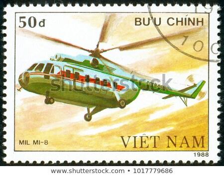 Vietnam sello impreso imagen velero agua Foto stock © Zhukow