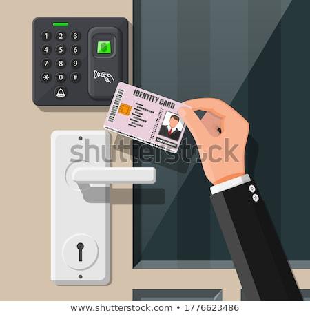office scanner card Stock photo © shutswis