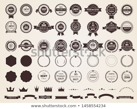 classic royal emblem badge set  Stock photo © creative_stock