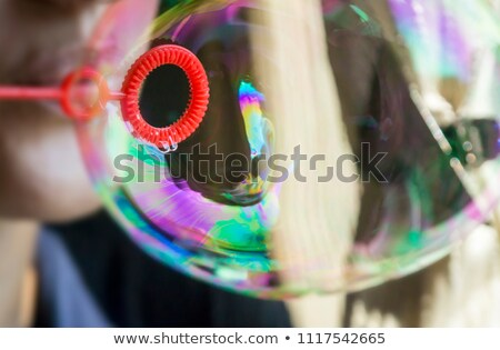 Bubble Wand Soap Sud Game Playing Outdoors Stock photo © eldadcarin