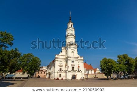 ратуша Литва воды синий ночное небо Европа Сток-фото © kyolshin