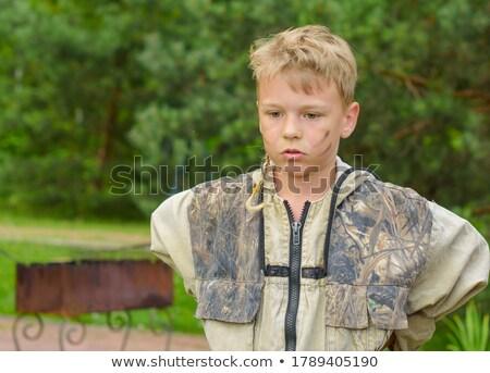 dziewczyna · strzelanie · pistolet · sportu · dziecko · sztuki - zdjęcia stock © cteconsulting