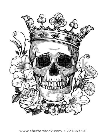 rózsa · kard · tetoválás · divat · szív · szépség - stock fotó © artisticco
