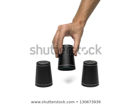 Dice Кубок стороны различный изолированный Сток-фото © ABBPhoto