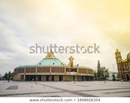 Eski bazilika Meksiko Cityscape kilise bayan Stok fotoğraf © jkraft5