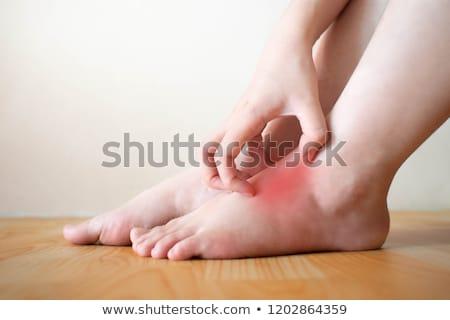 Сток-фото: ног · кавказский · мужчины · ногу · другой · изолированный