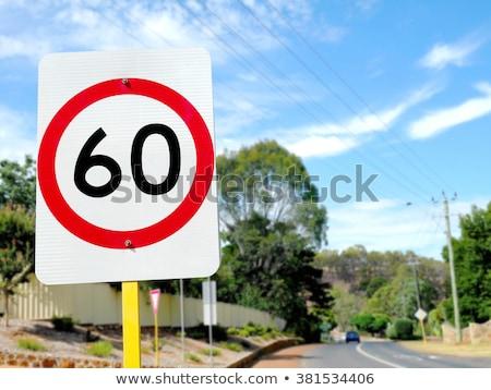Austrália limite de velocidade assinar quilômetro por hora Foto stock © iofoto