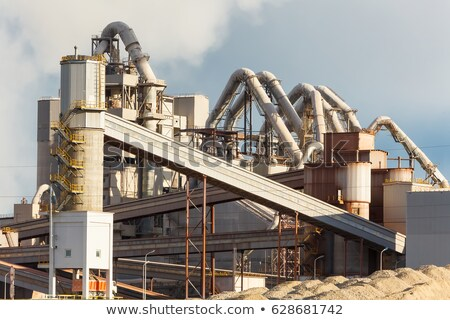 Cement factory view in a blue sunny day  Stock photo © lunamarina
