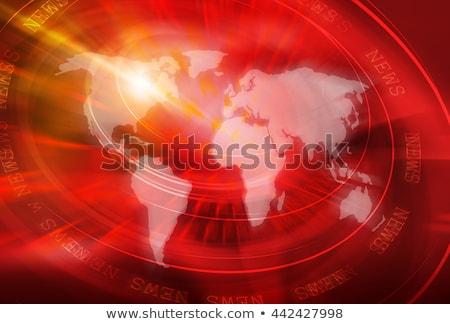 Nieuws Rood 3d tekst geïsoleerd witte communicatie Stockfoto © tashatuvango