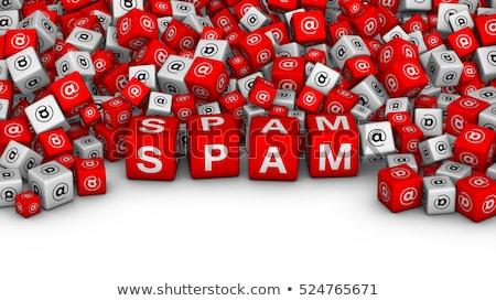 spam · teken · witte · computer · internet - stockfoto © vladodelic