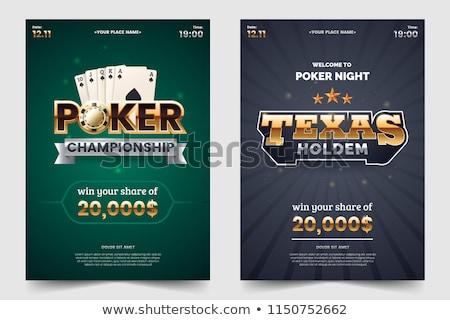 Teksas · poker · kazanan · el · profesyonel · kazanan - stok fotoğraf © stokkete