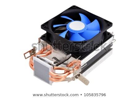 Cpu isolado branco pormenor processador computador Foto stock © marcelozippo