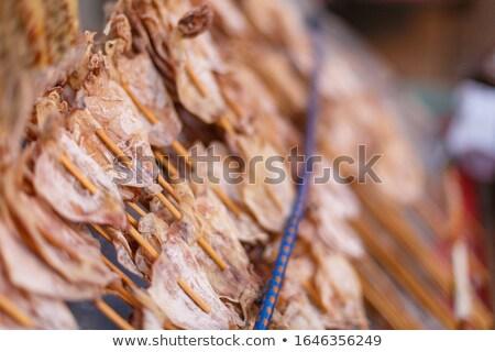 Foto stock: Secas · lula · vender · céu · oceano