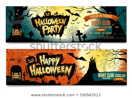 Two happy halloween banners, vector Stock photo © carodi