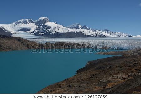 Buzul panoramik göl manzara kar dağ Stok fotoğraf © faabi