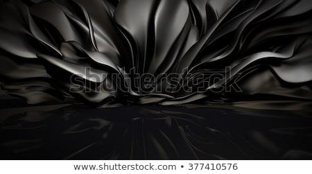 rosso · nero · pelle · divano · realistico · casa - foto d'archivio © imaster