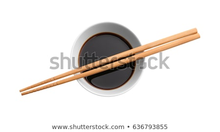Szójaszósz mártás evőpálcikák étel csésze kínai Stock fotó © inxti