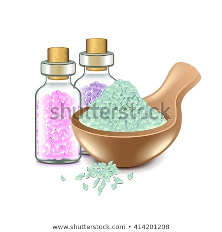Foto stock: Homeopáticos · sal · do · mar · lavanda · secar · flores
