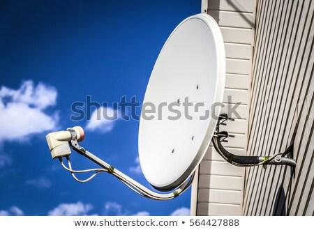 Anten duvar gri dışında beyaz ev Stok fotoğraf © Elenarts