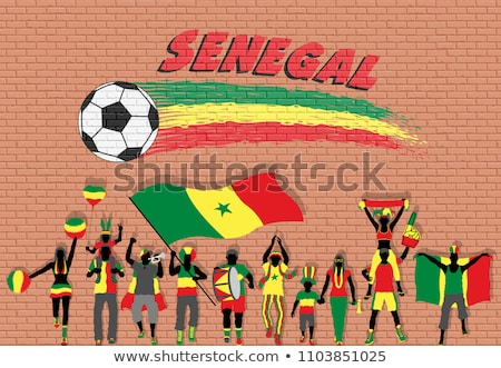Flag of senegal with football in front of it Stock photo © MikhailMishchenko