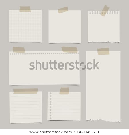 set of note papers stock photo © maros_b