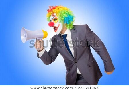 zakenman · clown · grappig · geïsoleerd · witte · man - stockfoto © elnur