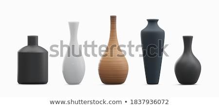 Bağbozumu vazo bronz süs yalıtılmış beyaz Stok fotoğraf © Bumerizz