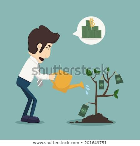 Hombre de negocios eps10 vector formato dinero Foto stock © ratch0013
