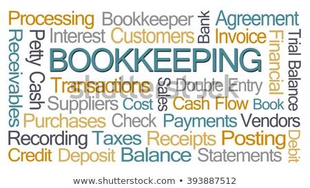 jövedelem · vám · pénz · érmék · könyvelés · Egyesült · Királyság - stock fotó © chrisdorney