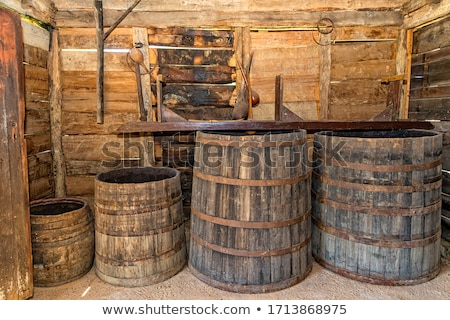 Stock photo: apples are stored in the cellar