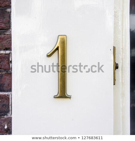 дома числа двери колокола 19 плитка Сток-фото © Kuzeytac