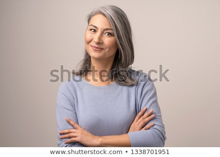 Middle aged Chinese Asian woman portrait Stock photo © szefei