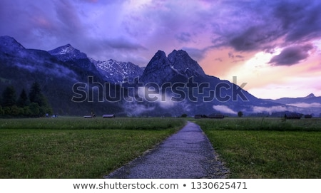 bavarian alps view from zugspitze stock photo © natika
